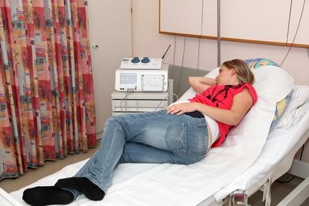 sala parto: Donna incinta in sala parto