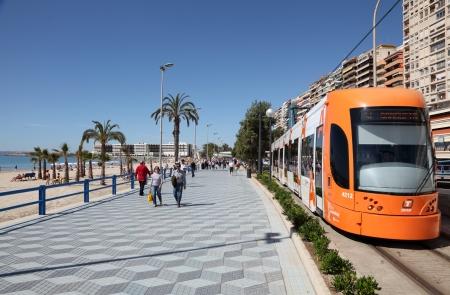Promenade in Alicante, Catalonia Spain. Photo taken at 1st of Mai 2012 Editorial