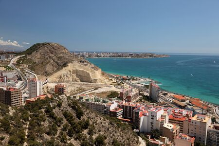 Seaside view of Alicante, Catalonia Spain photo