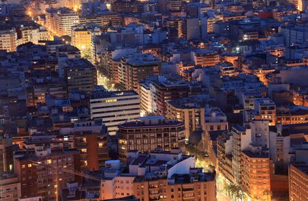 Cityscape of Alicante at night. Catalonia Spain photo
