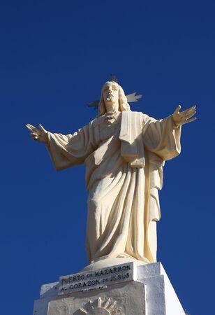 christus: Jesus Christus Statue in Puerto de Mazarron, Spain