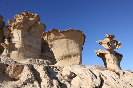 Sandstone Erosions at Bolnuevo. Puerto de Mazarron, Region Murcia, Spain