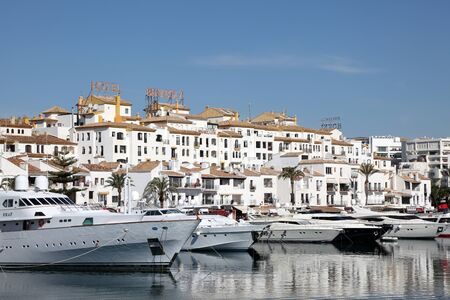 Luxury yachts in the marina of Puerto Banus, Marbella, Spain. Photo taken at 22nd May 2012 Stock Photo - 13824335