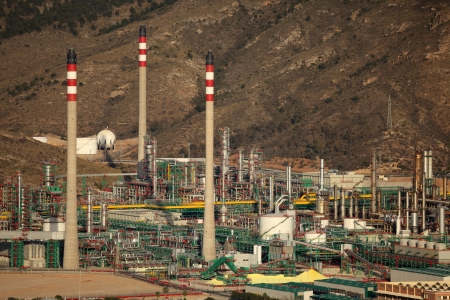 Oil refinery complex in Spain Stock Photo - 13824747