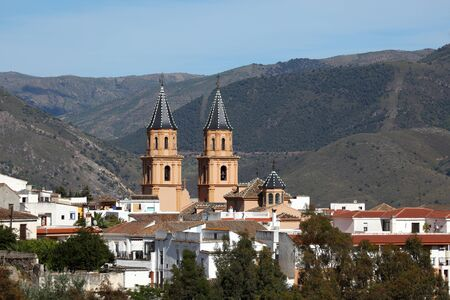 Cathedral of the Andalusian village Orgiva, Spain Stock Photo