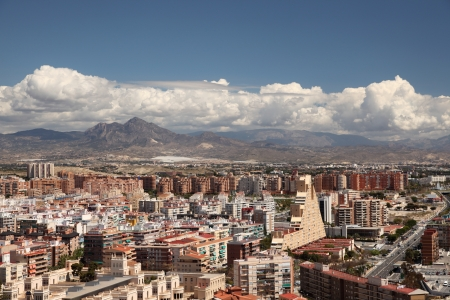 View over the city of Alicante, Catalonia Spain photo
