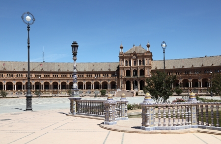 espana: Spanish Square (Plaza de Espana) in Seville, Andalusia Spain