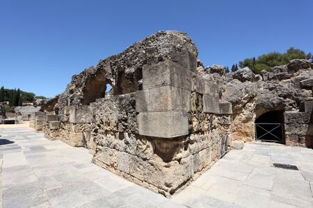Roman Amphitheater ruin Italica. Province Seville, Andalusia Spain photo