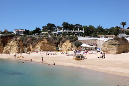 Beach in Lagos, Algarve Coast Portugal. Photo taken at 19th June 2012
