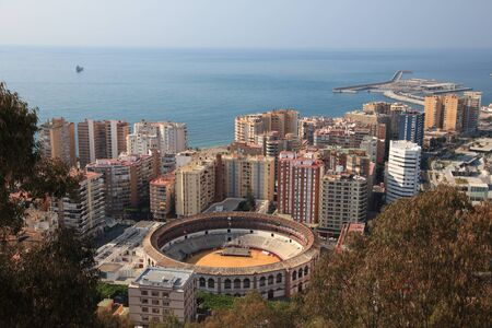 View over the city of Malaga, Andalusia Spain photo