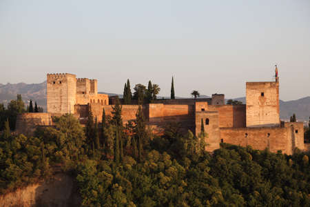 ramparts: Ramparts of the Alhambra in Granada, Andalusia Spain