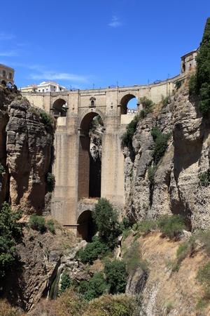 nuevo: Famous bridge Puente Nuevo in Andalusia Spain Stock Photo