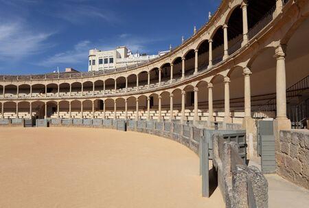 plaza de toros: Oldest Bullring (Plaza de Toros) of Spain in Ronda, Andalusia Editorial