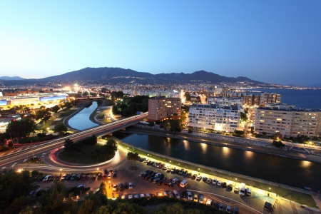 sol: View over the town Fuengirola. Costa del Sol, Andalusia Spain