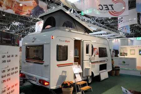tec: DUESSELDORF - AUGUST 27: T.E.C. Travel Style mobile home showed at the Caravan Salon Exhibition 2012 on August 27, 2012 in D�sseldorf, Germany.    Editorial