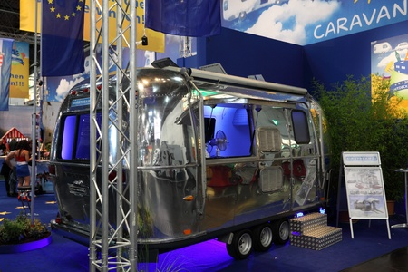 airstream: DUESSELDORF - AUGUST 27: Airstream caravan at the Caravan Salon Exhibition 2012 on August 27, 2012 in Düsseldorf, Germany. Editorial
