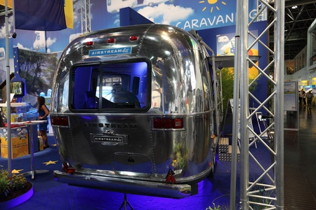 airstream: DUSSELDORF - AUGUST 27: Airstream caravan at the Caravan Salon Exhibition 2012 on August 27, 2012 in Dusseldorf, Germany.