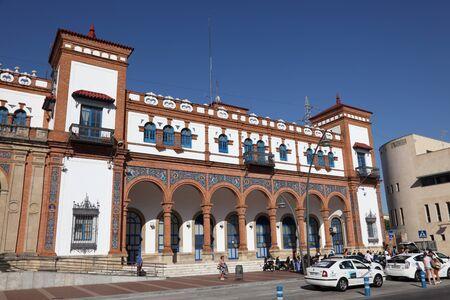 Main train station in Jerez de la Frontera, Andalusia Spain Editorial