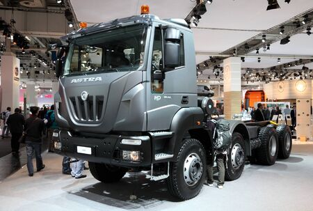 astra: HANNOVER - SEP 20: New Astra H9D 8444 Truck at the International Motor Show for Commercial Vehicles on September 20, 2012 in Hannover Germany