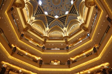 Interior of the Emirates Palace in Abu Dhabi, United Arab Emirates