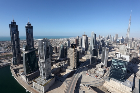 Dubai Business Bay, United Arab Emirate Stock Photo