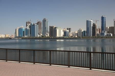 sharjah: Sharjah skyline. United Arab Emirates