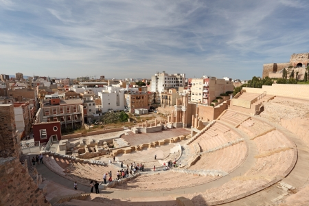 roman amphitheatre: Anfiteatro romano de Cartagena, Regi�n de Murcia, Espa�a Editorial