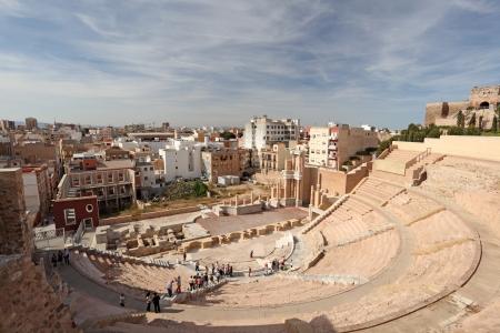 murcia: Roman amphitheater in Cartagena, Region Murcia, Spain Editorial