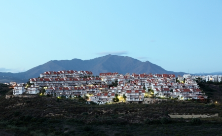 Residential buildings at the Costa del Sol in Andalusia, Southern Spain photo