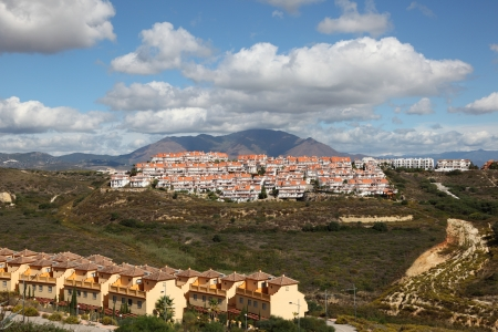 Residential buildings on the Costa del Sol, Andalusia Spain photo