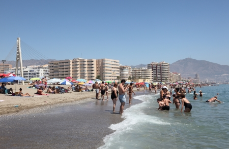 Beach in Fuengirola, Costa del Sol, Province of Malaga, Andalusia Spain