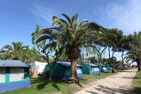 camping site: Camping site in southern Spain