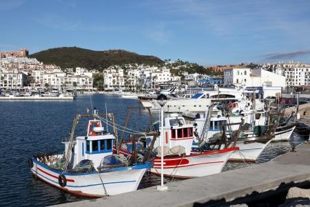 'costa del sol': Fishing boats in La Duquesa, Costa del Sol, Andalusia Spain Stock Photo