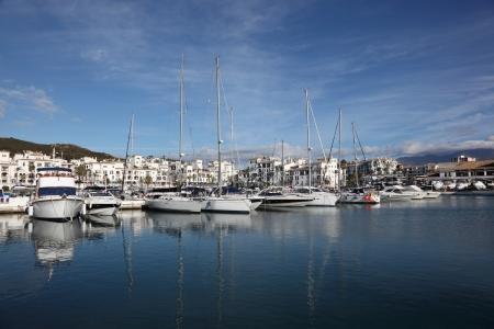 'costa del sol': Marina in La Duquesa, Costa del Sol, Andalusia Spain Stock Photo