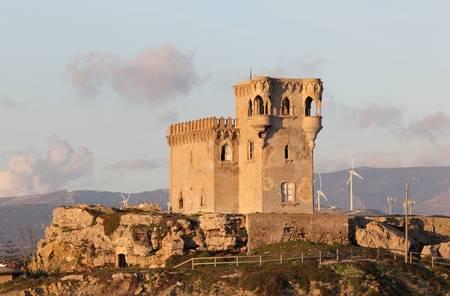 tarifa: Ancient tower in Tarifa, Andalusia Spain Stock Photo