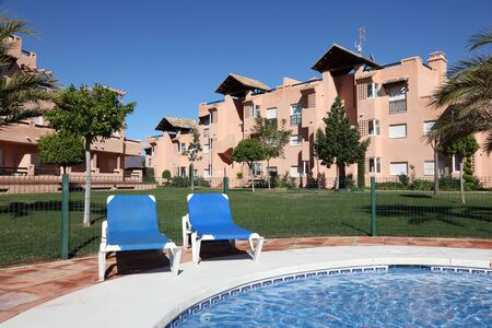 Vacation resort with pool in Andalusia, Costa del Sol, Spain