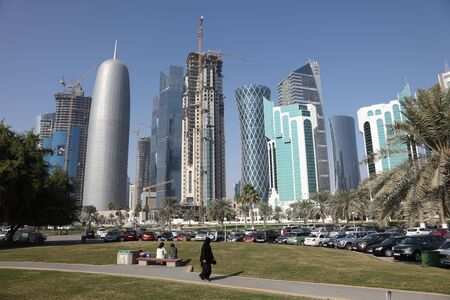 Doha downtown district, Al Dafna, Qatar, Middle East Stock Photo - 16993985