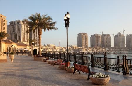 middle east: Promenade in Porto Arabia, Doha, Qatar Middle East