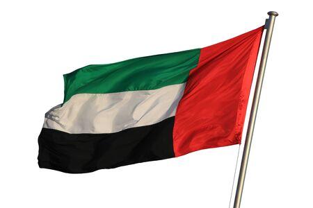 Flag of the United Arab Emirates isolated on white photo