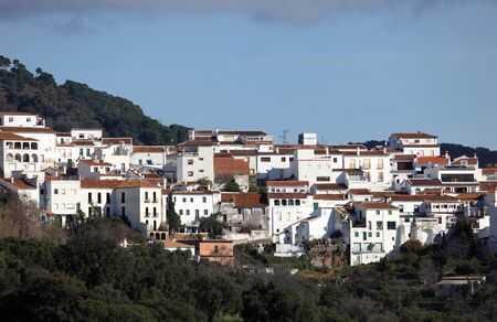 white washed: White washed andalusian village Gaucin, Spain Stock Photo