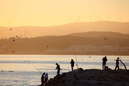 'costa del sol': Fishermen in Estepona, Costa del Sol, Andalusia, Spain