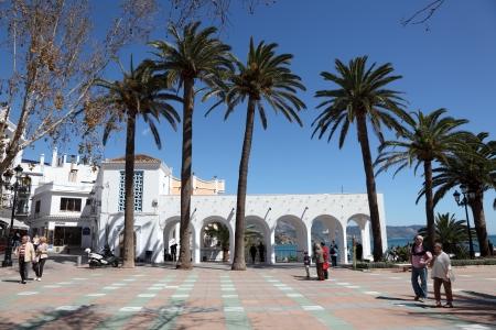 nerja: Promenade in Andalusian town Nerja, Province of Malaga, Spain