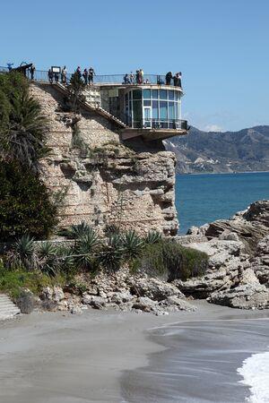 nerja: Balcon de Europa in Nerja, Costa del Sol, Spain