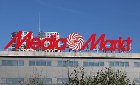 electronics store: Media Markt - negozio di elettronica del gruppo Metro, Metro AG. Algeciras, Andalusia Spagna. Editoriali