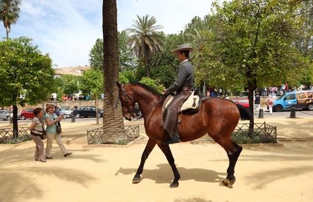 charro: Tradicional andaluz jinete en C�rdoba Espa�a