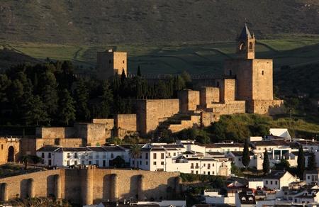 alcazaba: Moorish castle Alcazaba in Antequera, Andalusia Spain