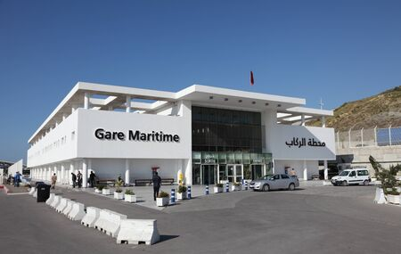 med: Gare Maritime - ferry terminal in the new port Tangier Med, Morocco