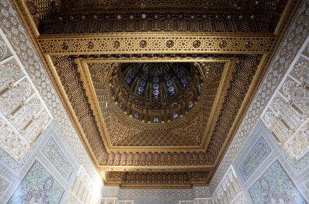 maroc: Cupola of the Mausoleum of Mohammed V in Rabat, Morocco