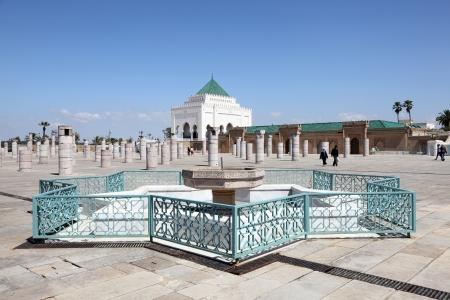 mohammed: The Mausoleum of Mohammed V in Rabat, Morocco