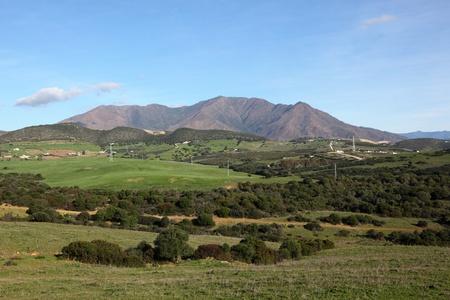 アンダルシア、スペイン エステポナ近くの美しい風景